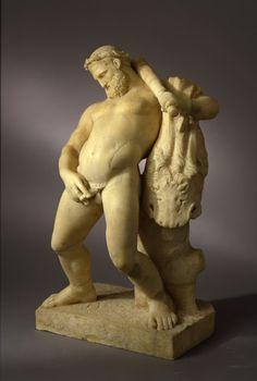 Hércules borracho como una cuba echándose un pis. Escultura pompeyana del siglo I d.c.  Del post de Harte con Hache: http://harteconhache.blogspot.com.es/2013/06/hercules-se-va-de-boda.html