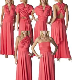 Multi-Wear Wrap Dress this is the dress i want my girls in...so each one feels ok on my special day!