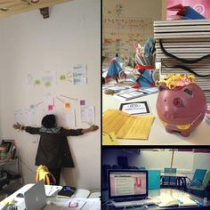 """We're always happy to come back and get our #innovation groove on. #myawesomedesk"""