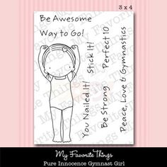 My Favorite Things Clear Stamp - Pure Innocence Gymnast Girl