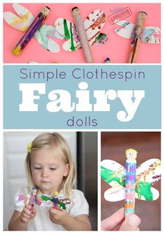 Toddler Approved!: Simple Clothespin Fairy Dolls {& Fairytales}