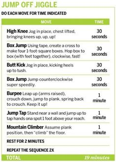Jump Off Jiggle @Berry Steiner Steiner Steiner Rules circuit training, interval workouts, cardio workouts, fitness workouts, get motivated, home workouts, health, workout exercises, office workouts