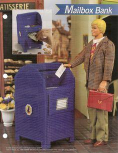Mailbox Bank Fashion Doll Plastic Canvas Pattern. $2.95, via Etsy.