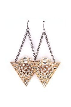 Deco June Earrings in Gold on Emma Stine Limited