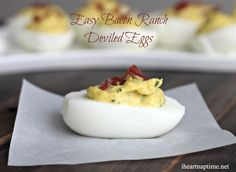 Easy bacon ranch deviled eggs ...the perfect appetizer for Easter!