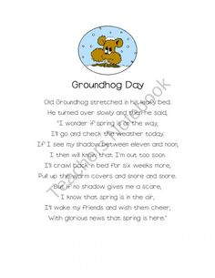 Groundhog Day Poems with Emergent Readers product from LMNTREE on TeachersNotebook.com