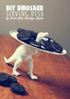 DIY Tutorial: Clever Dinosaur Serving Dish!