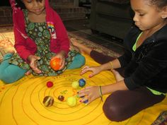 Home made solar system game.