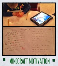 Minecraft Motivation!  Using the game to assist with writing, sequencing, and editing.  Students eat this up!