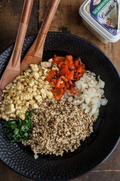 Three-Grain Grilled Vegetable and Feta Salad @presidentcheese  #ArtOfCheese
