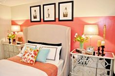 Vintage Glam Bedroom - contemporary - bedroom - miami - by Nicole White Designs Inc