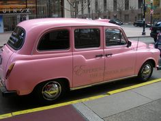 The Langham pink taxi