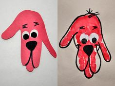 """Happy 50th birthday Clifford! To celebrate the Big, Red Dog's big 5-0 (in human years), try these great """"handy"""" crafts at home."""