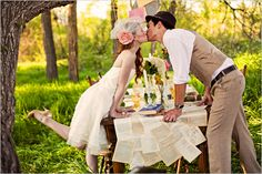 Mad Hatter tea party wedding!