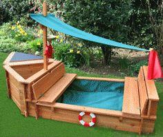 sands, garden games, yard, dream, sand boxes, sandbox, boat, pallet wood, kid