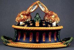Twin rabbits with ducks tureen. Minton