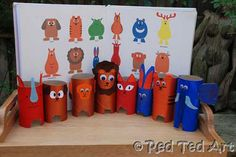 Cardboard tube animals