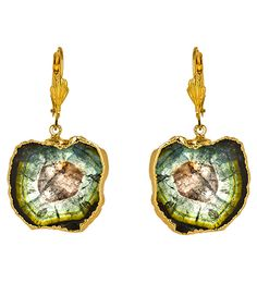 Dara Ettinger Tourmaline Earrings.