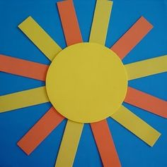 sun crafts and weather chart idea