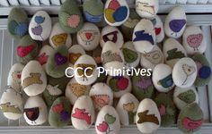 Wool Easter Egg Bowl Filler Country Easter Eggs by CCCPrimitives, $22.00 wool easter, bowl fillers, artworks, wool egg, easter eggs, countri easter, egg bowl, country, bowls