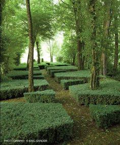 Hedge shapes, Louis Benech