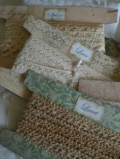 How to make lace cards for organizing your lace