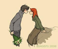 Harry and Ginny by usagistu on deviantART