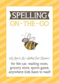 Click here for free printable Spelling Lists of sight words, grade-level spelling bee words, and some spelling tips for elementary school children.
