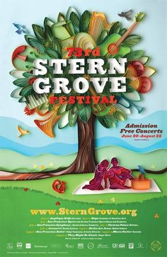 Another beautiful quilled ad for the Stern Grove Festival - by: Yulia Brodskaya
