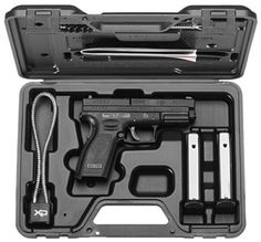 """Factory New Springfield XD Service 4"""" 9mm Melonite Finish Fixed Sights This is the essentials package offered from Springfield at this time. It comes with two 16rd 9mm magazines. Th"""