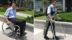 Battery-powered for all-day use, ReWalk is an Israeli invention controlled by on-board computers and motion sensors, restoring self-initiated walking without needing tethers or switches to begin stepping. ReWalk controls movement using subtle changes in center of gravity, mimics natural gait, and provides functional walking speed. The ReWalk does it all, from walking to climbing stairs to running marathons.