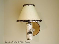 DIY Rustic Birch Sconces And Lamps