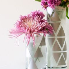 Geometric Vase submitted to InspirationDIY.com