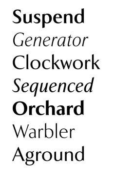 Volker picks Exemplar by Göran Söderström of Letters from Sweden → Summer 2013 #fontshop #fonts