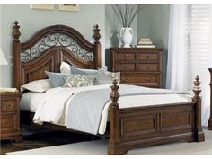 Liberty Furniture Bedroom Queen Poster Headboard 547-BR01 - Barrs Furniture - McMinnville, TN