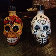 Beautiful tequila bottles.