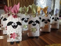 stamp, gift boxes, treat bags, baby shower treats, tag, candies, punch art, lamb, baby showers
