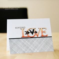 Ombré Love Video How-to: Copic Markers are used to create a gradient effect on a word die cut.