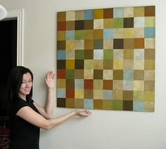paint chip wall art #knockoff #paint chips #home