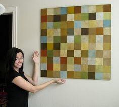 Faux tile mosaic with scrapbook paper