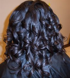 how to sew straight : Roller Setting Relaxed Hair Relaxed Hair Rollerset More