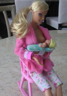 Another celebrity #breastfeeding mama! :) breastfeed mama, babi, barbi doll, breastfeed barbi, barbie, celebr breastfeed, breastfeeding, breast feed, role models