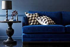A Sophisticated Palette: Furniture & Decor in Blue & Black