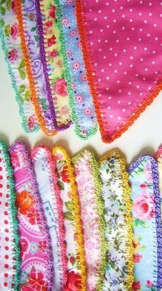 Fabric + crochet = love!