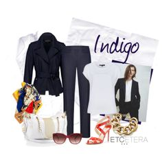 INDIGO jacket and pant   Etcetera Spring 2014 Collection