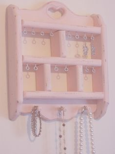 Shabby Chic Craft Ideas | shabby chic jewelry display pink shabby chic earring holder by ...
