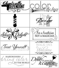 Turn Your fave photo & Quotes into a Vinyl Wall Expression (Decal) Http://JamieNorton.UppercaseLiving.Net #Hair #Salon