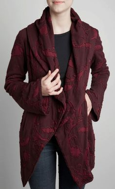 alabama chanin, hand embroidery, cotton, hand sewn, cleanses, vogue patterns, blog, coats, blues