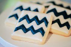 cookies chevron parties, cakes, chevron party, parti kiss, shower idea, chevron cooki, biscuit, babi shower, kisses