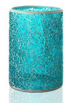 Crackle Colored Glass Shade, Blue $30